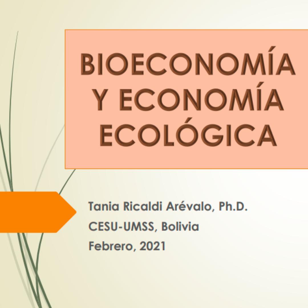 tania, bioeconomía